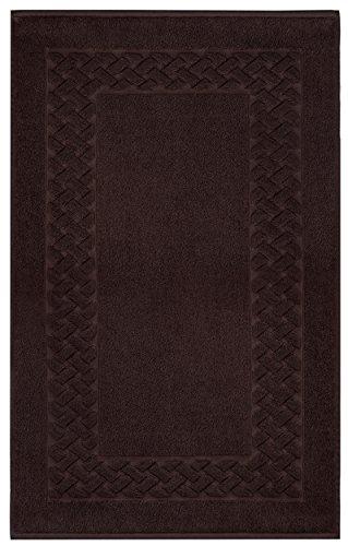 Lashuma Tapis de Bain 100 % Coton éponge Royal 50 x 80 cm, Coton, Marron Expresso