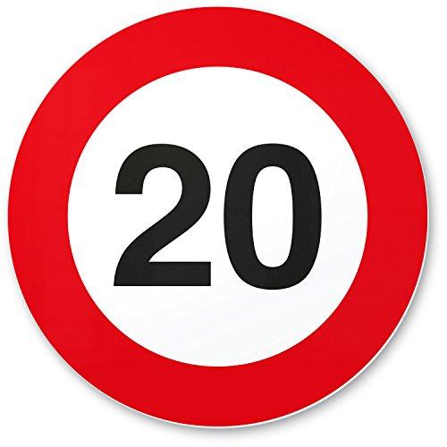 DankeDir! 20 Geburtstag Verkehrsschild - Kunststoff Schild, Geschenk 20. Geburtstag, Geschenkidee Geburtstagsgeschenk Zwanigsten, Geburtstagsdeko/Partydeko/Party Zubehör/Geburtstagskarte