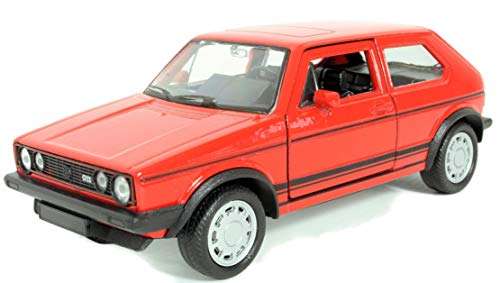 Schaepers Kaleidoskope Modellauto / VW Golf / mit Rückzugantrieb /1:34 / ca. 12 cm /Zwei Farben / Rot oder Grün / / Zufallsauswahl / Golf