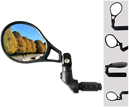 Hafny 2021 NEW Bar End Bike Mirror HD Automotive Grade Glass Lens Large Surface Shatterproof product image