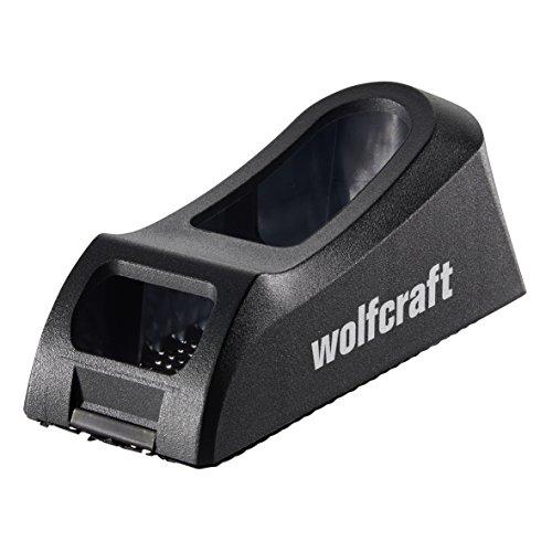 Wolfcraft 4013000 Blockhobel für Holz und Gipskarton schwarz