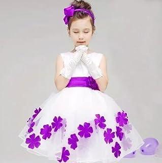 LuckyYumi 子供ドレス 女の子 ピアノ 発表会 パーディー 演奏会 フォーマル 入園式 結婚式 ワンピース (130cm, ばぶるー)