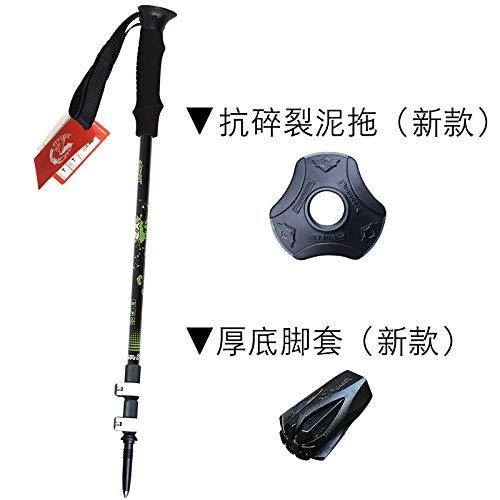 XYL HOME Trekking pôle Ultra léger équipement de randonnée bâton télescopique en Carbone Ultra Court extérieur béquilles de Montagne Pliant pôle de montée, Noir