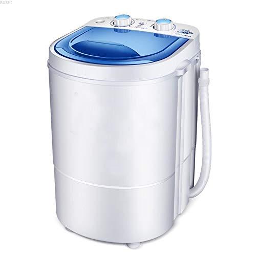 BXWQPP Doppio Pulsante Portatile Mini Lavatrice capacità 4.5 kg Lavatrice da Campeggio con Funzione Centrifuga Risparmio Energetico e Acqua Timer Ideale per Persone con Bambini e Studenti e Camper