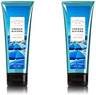 Bath and Body Works 2 Pack French Riviera Body Cream (shea & vitamin E) 8 Oz.