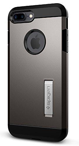 Spigen Tough Armor Designed for Apple iPhone 7 Plus Case (2016) / Designed for iPhone 8 Plus Case (2017) - Gunmetal