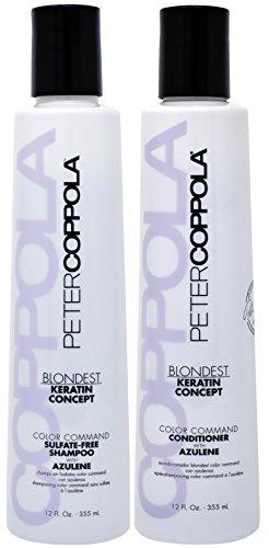 Peter Coppola Purple Shampoo & Conditioner with Azulene for Blonde...