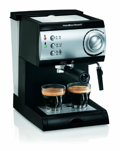 Hamilton Beach Espresso Machine with Steamer -...