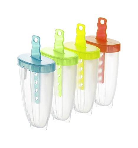 Rotho Wave 4er Eisformen, Kunststoff (BPA-frei), bunt, 4 x 75 ml