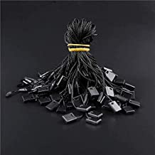 1000 PCS Black Hang Tag Fasteners Clothes Tag String CSC@C Black Nylon Tag String with Snap Lock Price Tags String