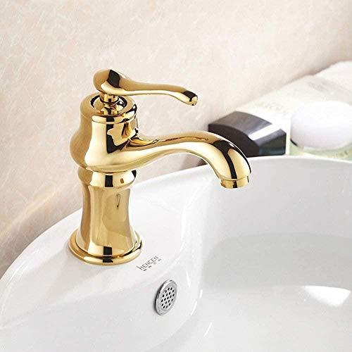 kranen badkamer wastafel kranen badkamer wastafel volledig koper theepot gouden kraan warm en koud water Airconditioning moderne creatieve enkele gat kraan duurzame badkamer armaturen