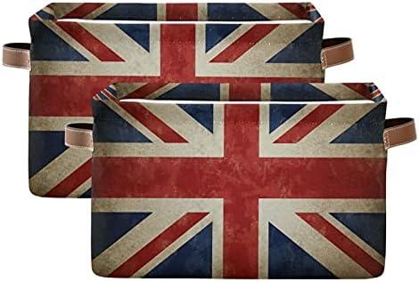 Meetutrip Rectangular Storage Bin Cube Vintage Limited Special Price Superlatite Flag F Britain UK