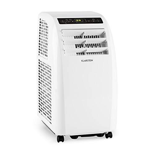 Klarstein Metrobreeze Rom Klimaanlage mobiles Klimagerät Ventilator (EEK: A+, 10.000 BTU/h, 18-30 °C, Zeitsteuerung, Sleep Mode, Bodenrollen, Timer, inkl. Fernbedienung) weiß
