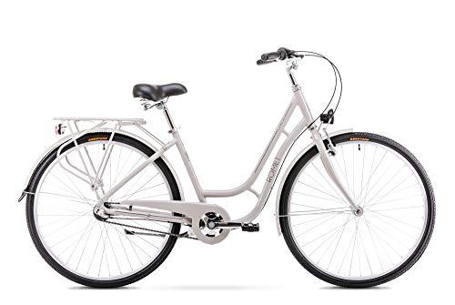 Romet LUIZA 3S City Bike 26 Zoll Stadtfahrrad Fahrrad Citybike Cruiser Hollandrad Shimano 3 Gang 18 Zoll Aluminium Rahmen grau