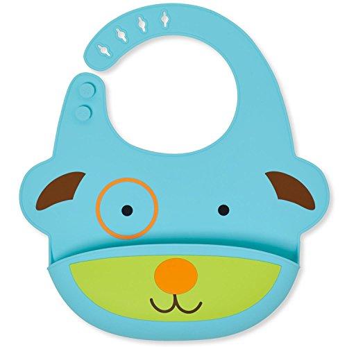 Skip Hop Silicone Bib: Fold & Go Baby Bib, Llama
