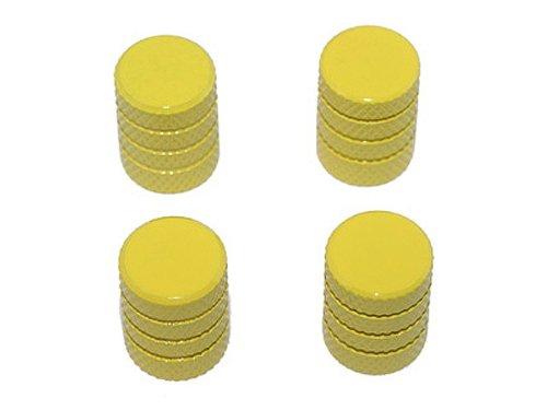 Graphics and More Tire Rim Wheel Aluminum Valve Stem Caps - Yellow Color