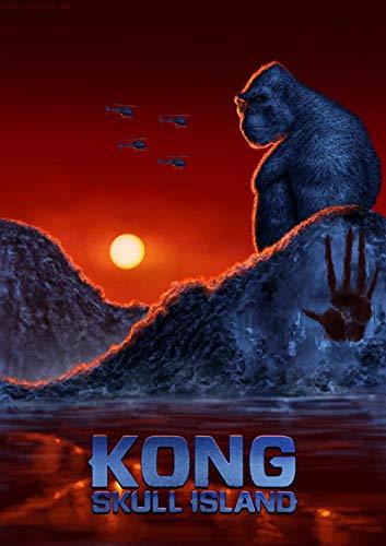 JINZUO Puzzle 1000 Piezas Personalizado 3D Infantiles 8 Años Educa Madera Adultos Arte Paisajes Placeres Decoracion/King Kong: La Isla Calavera