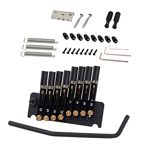 B Baosity Kit De Ensamblaje De Sistema De Puente Tremolo De Guitarra Sin Cabeza De Aleación Duradera De 8 Cuerdas