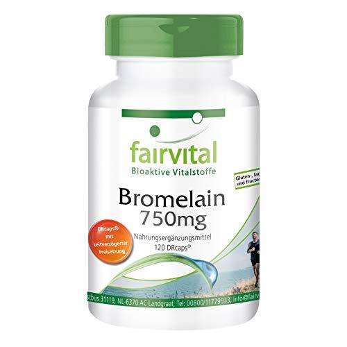 Bromélaïne 750mg - Boite pour 2 MOIS - HAUTEMENT DOSÉ - VÉGAN - 120 gélules - Enzyme d'ananas
