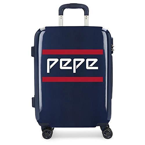 Maleta de Cabina rígida 55cm Pepe Jeans Luggage Archive Azul Marino