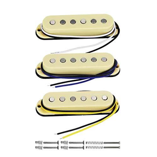 FLEOR Juego de pastillas de guitarra eléctrica-cuello/medio/puente Alnico 5 pastillas de bobina...