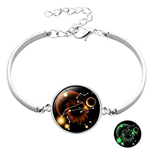 yichahu Pulsera luminosa de 12 constelaciones con gemas de tiempo, pulsera de cuero para hombres, mujeres, niños, niñas, accesorios de joyería de regalo (6)