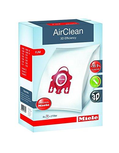 Miele AirClean 3D Efficiency Dust Bag, Type FJM, 4 Bags & 2 Filters