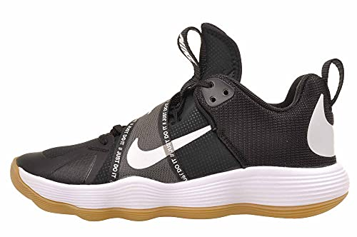 Nike Women's React Hyperset Volleyball Shoe, CI2956-010 (Black/White/Gum Light Brown, 8.5)
