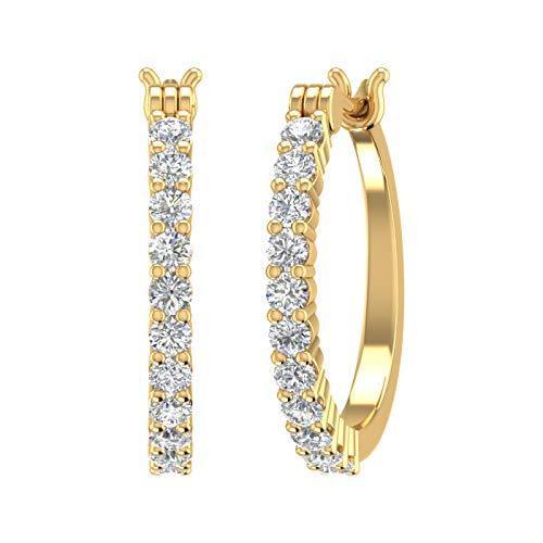 Natural Diamond Hoop Earrings