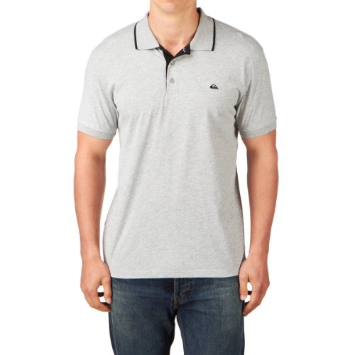 Quiksilver Push It Chemise Polo Homme Light Grey Heat FR : L (Taille Fabricant : L)
