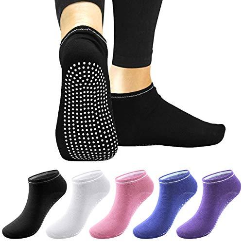 Netspower Yoga Calcetines Pilates, Calcetines deportivos antideslizantes Calcetines de algodón Calcetines deportivos transpirables Calcetines para correr Secado rápido para mujeres y hombres Ballet