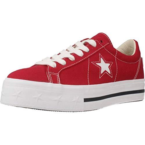 Converse Damen Laufschuhe, Color Rot, Marca, Modelo Damen Laufschuhe ONE Star Platform OX Rot