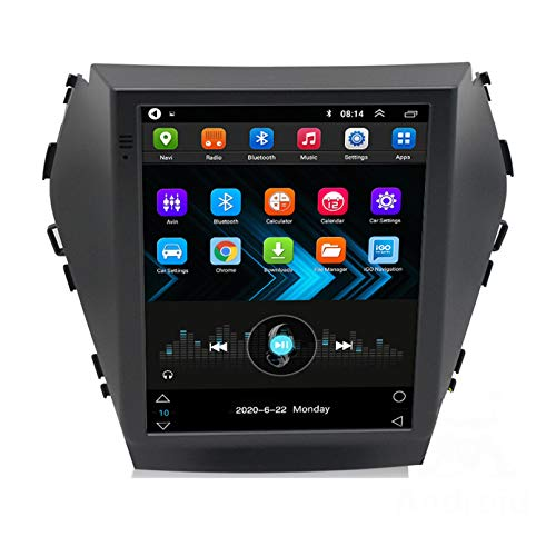 Android 9.1 8 Core 2.5D Pantalla Estéreo para automóvil Navegación por satélite Radio DVD Control del volante Reproductor de video Navegación GPS multimedia para Hyundai Shengda IX4(Color:WiFi 2G+32G)