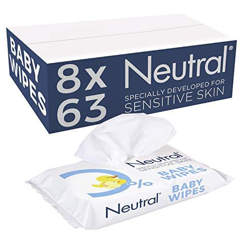 Neutral Baby Billendoekjes Parfumvrij 8 x 63 stuks - 504 stuks Voordeelverpakking