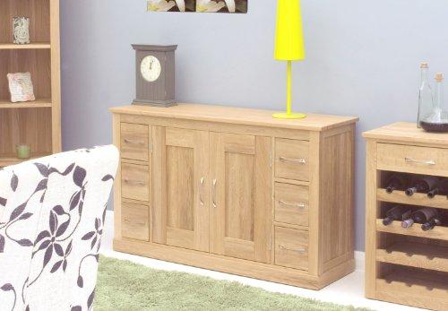 Mobel Oak Six Drawer Sideboard-Baumhaus