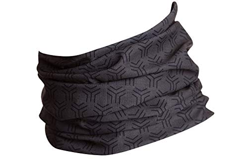 Hilltop Multifunktionstuch, Kopftuch, Motorrad-Halstuch, Bandana/TOP Farben, Farbe/Design:grau schwarz new