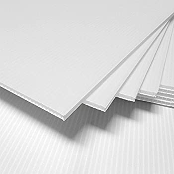 "100 pc White Blank 12/"" x 18/"" Coroplast  corrugated plastic for signs art project"
