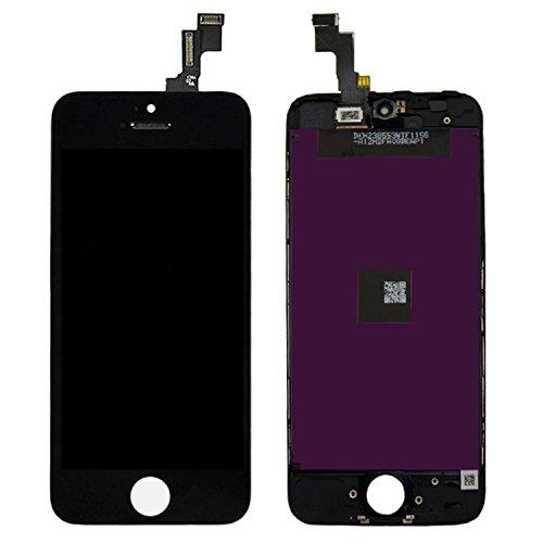 SZM iPhone5S 液晶パネル 交換修理用 フロントパネル アイフォン5S スクリーン タッチパネル 交換パーツ 画面割れ 落下修理 (5S黒)