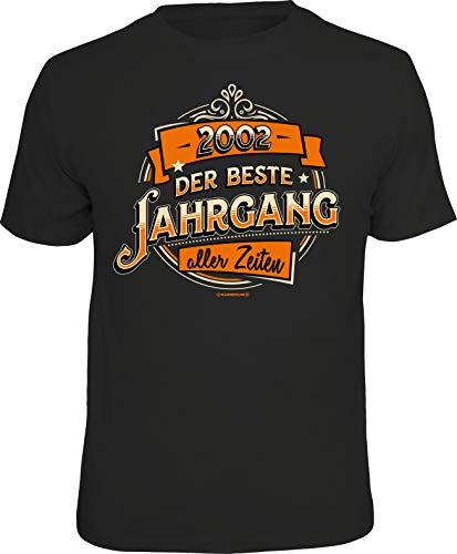 Geschenk T-Shirt zum 18. Geburtstag und Volljährigkeit: Jahrgang 2002 M Nr.6276_2002