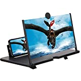 EZSMART 12' Screen Magnifier for Smartphone, Pull-Type 3D HD Cell Phone Screen Enlarger, Phone Projector Zooms 3-4 Times for Movies, Videos & Gaming, Foldable Phone Stand Screen Amplifier