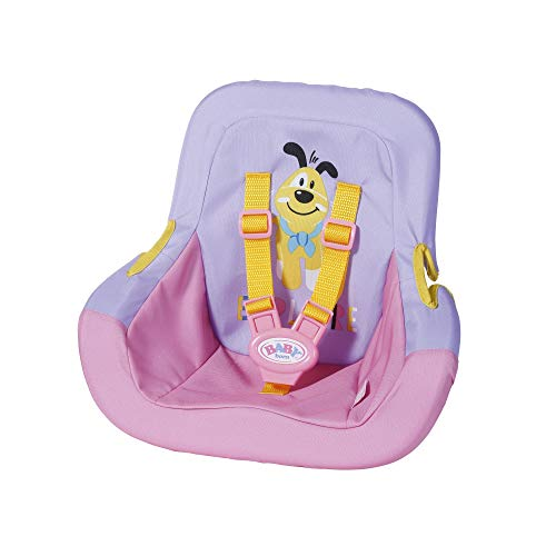 BABY Born 828830 Autositz für 43cm Puppe - mit Sicherheitsgurten - leicht für Kleine Hände, Kreatives Spiel fördert Empathie & Soziale Fähigkeiten, für Kleinkinder ab 3 Jahren