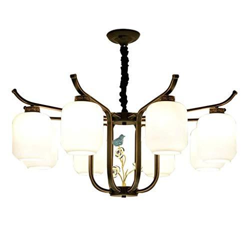 LIGUANGWEN Lampadario, Industriale Vintage Paese LED 8 Lampada allo Xeno, utilizzato for Zona Giorno/Notte Sospensione Creativo Decorazione lampadario (Color : A)