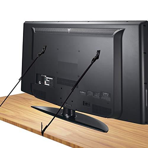 [2 Stück] TV Kippsicherung, Canwn Kippsicherung Fernseher Verstellbar Kindersicherung TV Sicherung Baby und Kinder Schutz Universal Sicherungsgurte für Möbel Flachbildfernseher