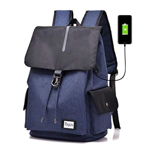 Fashion Shoulder Bags Leisure Travel Bag Fashion Student Rucksack,604 Blue,16-Inch