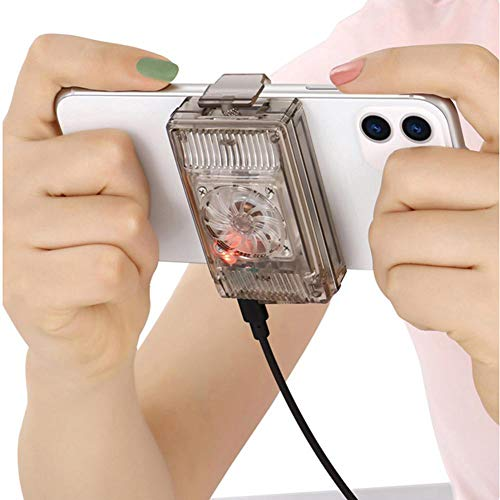 JZH-Light Coolreall Telefoonkoeler, instelbaar, draagbaar ventilatorhouder, koellichaam voor Samsung Huawei iPhone XS Max Xs XR mobiele telefoon radiator
