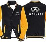Sudadera unisex, Camiseta de béisbol uniforme de la chaqueta de los hombres por INFINITI Impreso con capucha - costura de manga larga con cremallera Escudo chaqueta de punto - adolescente regalo Negro