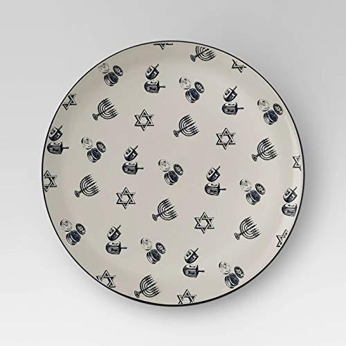 Whimsical Hanukkah 14' Round Stoneware Ceramic Platter - Threshold Collection
