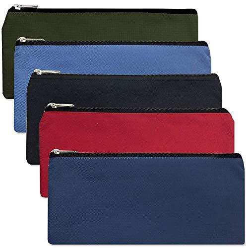 96 Pack of Canvas Pencil Cases - Wholesale Bulk Pencil Cases in Assorted Colors Classpack (5 Color Assortment)