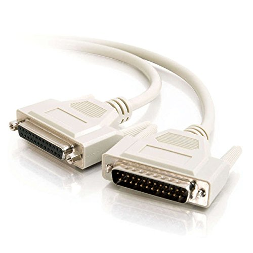 C2G 02653 DB25 M/F Serial RS232 Extension Cable, Beige (1 Feet, 0.30 Meters)