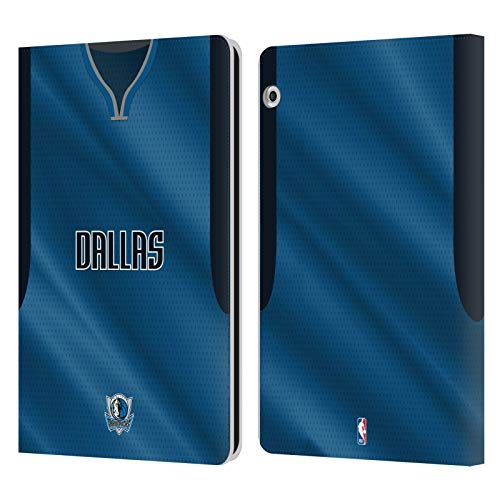 Officiële NBA Road Jersey 2018/19 Dallas Mavericks Lederen Book Portemonnee Cover Compatibel voor Huawei MediaPad T3 10